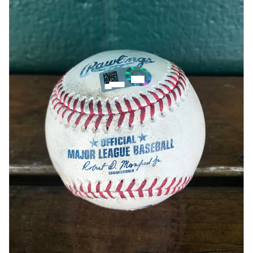 Photo of Cardinals Authentics: Game-Used Pitched baseball by Noah Syndergaard to Tommy Pham, Jose Martinez, Marcell Ozuna, Dexter Fowler, Paul Dejong, and Kolten Wong *double, Out, single 1 RBI, Out, Double, Ball*
