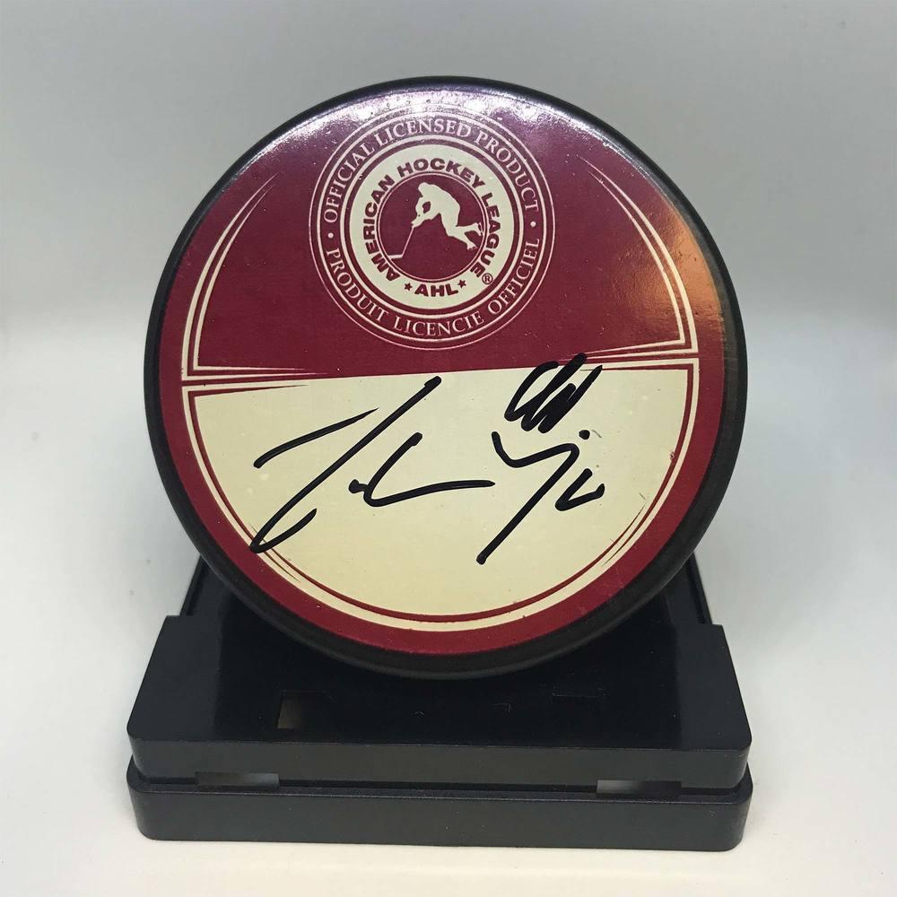 2011 AHL All-Star Classic Souvenir Puck Signed by #90 Johan Harju