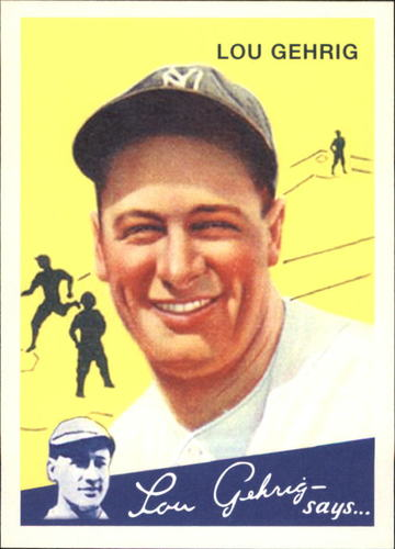 Photo of 2011 Topps CMG Reprints #CMGR24 Lou Gehrig -- Hall of Fame Class of 1939