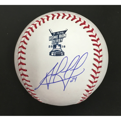 Photo of Jesus Aguilar Autographed 2018 Home Run Derby Baseball