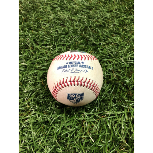 Photo of 20th Anniversary Game Used Baseball: Mike Trout foul ball off Ryne Stanek - August 1, 2018 v LAA