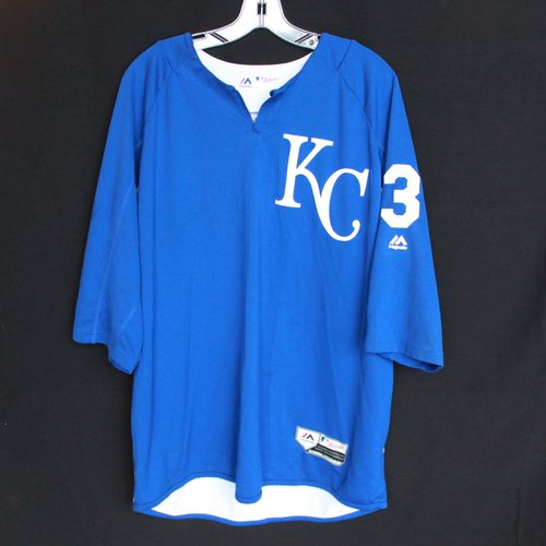 Photo of Team-Issued Batting Practice Jersey: #3 (Size - XL)