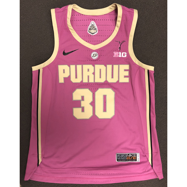 Photo of Purdue Women's Basketball 2018-19 Commemorative Cancer Awareness Pink Jersey #30 / Size 44