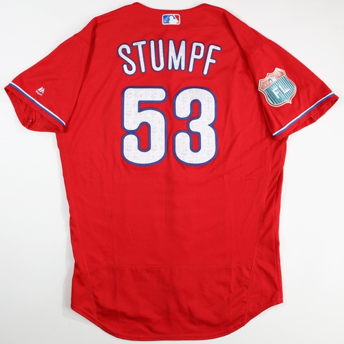 Photo of 2016  Spring Training -  Game-Used Jersey - Daniel Stumpf (Phillies) - Size 46