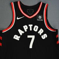 Kyle Lowry - Toronto Raptors - 2019 NBA Finals - Game 3 - Game-Worn Black Statement Edition Jersey