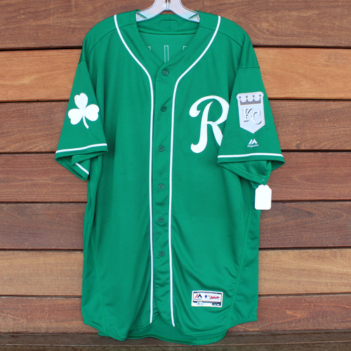 Photo of Game-Used Saint Patrick's Day Jersey: Sam McWilliams (KC @ SF - 3/17/19) (Size 50