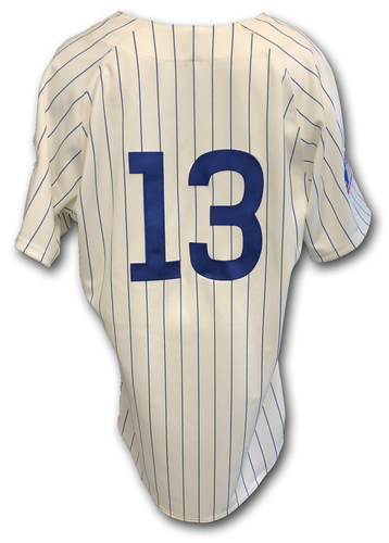 Photo of David Bote Game-Used 1969 Uniform -- Reds vs. Cubs -- 7/16/19