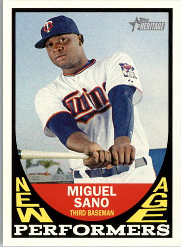 Photo of 2016 Topps Heritage New Age Performers #NAPMSA Miguel Sano