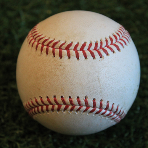 Photo of Game-Used Baseball: Kyle Gibson Pitched Strikeout to Nick Dini (9/28/19 - MIN @ KC)