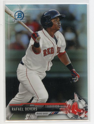 Photo of 2017 Bowman Chrome Prospects Refractors #BCP101 Rafael Devers 132/499