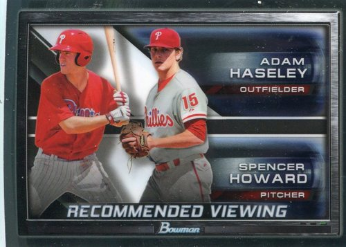 Photo of 2017 Bowman Chrome Draft Recommended Viewing #RVPHI Adam Haseley/Spencer Howard