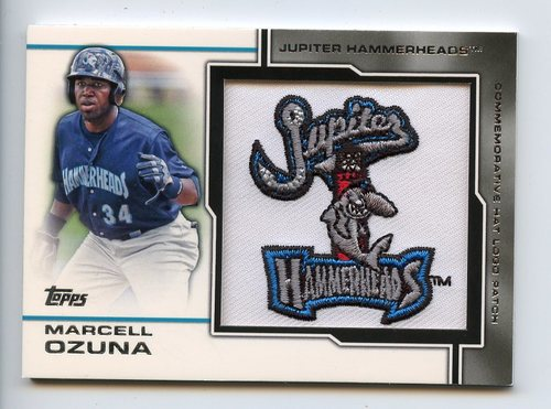 Photo of 2013 Topps Pro Debut Minor League Manufactured Hat Logo #MO Marcell Ozuna 50/75