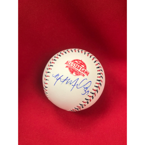 Photo of Miles Mikolas Autographed 2018 All-Star Logo Baseball