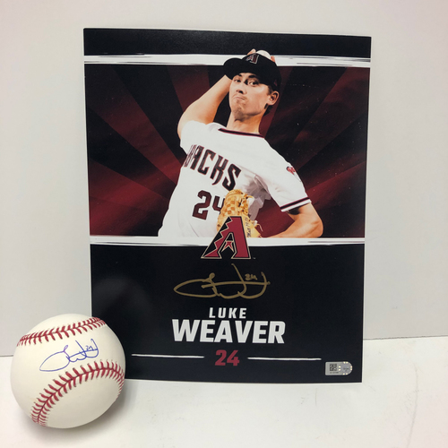 Photo of Luke Weaver Autographed Baseball and 8x10 Photo