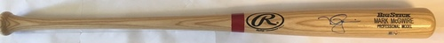 Photo of Mark McGwire Autographed Blonde Louisville Slugger Bat