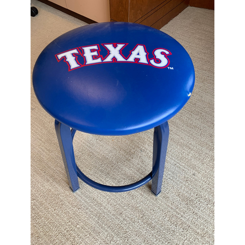 Home Clubhouse Stool - Used During the Final Season at Globe Life Park in Arlington