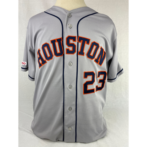 Photo of Michael Brantley 2019 Game-Used Jersey - 9/28/2019 at LAA - Size 46