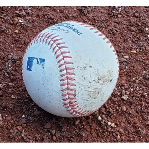 Photo of 2021 Phillies Game-Used Baseball - Luke Williams First Career Start (Foul Ball)