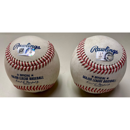 Photo of Game-Used Baseball: Jose Altuve Houston Astros Baseball Collection: Double and Walk  (MLB AUTHENTICATED)