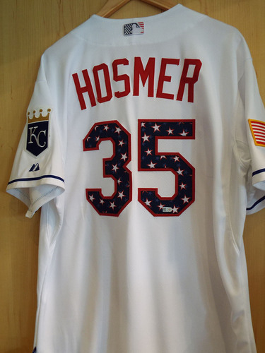 890c6a4af45441 Game-Used Eric Hosmer Stars and Stripes Jersey - Size 48