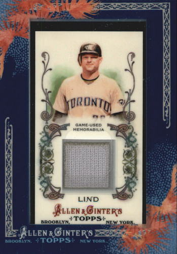 Photo of 2011 Topps Allen and Ginter Relics #AL2 Adam Lind Jsy