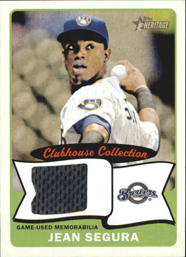 Photo of 2014 Topps Heritage Clubhouse Collection Relics #CCRJS Jean Segura