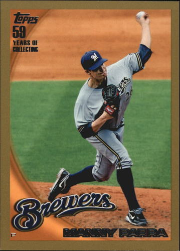 Photo of 2010 Topps Gold Border #391 Manny Parra