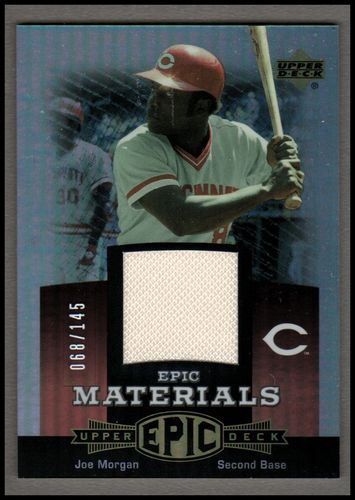 Photo of 2006 Upper Deck Epic Materials Red #JO2 Joe Morgan Jsy/145