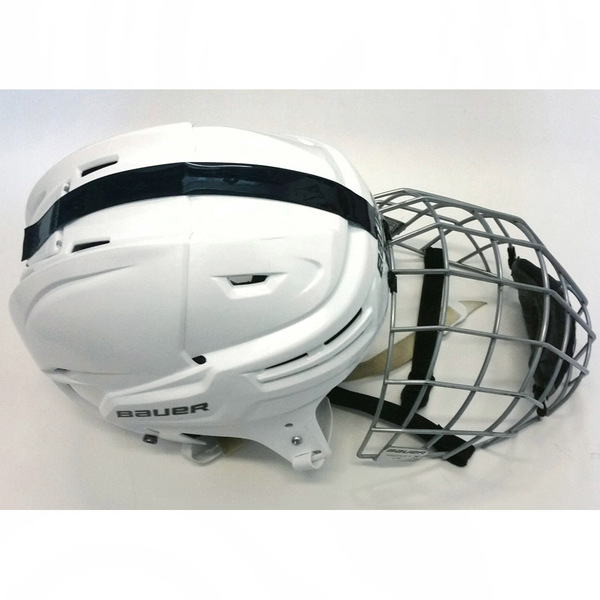 Photo of Penn State Game-Used Men's Ice Hockey Helmet (White, #26)