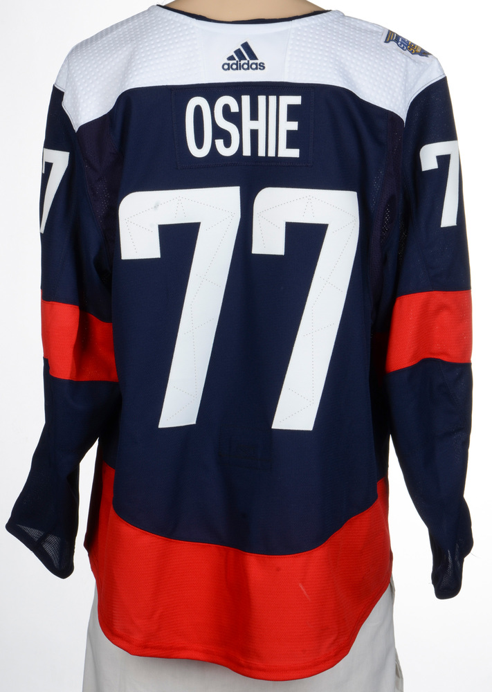 0037c13e ... france t.j. oshie washington capitals game worn 2018 nhl stadium series  jersey 6906c 7342f
