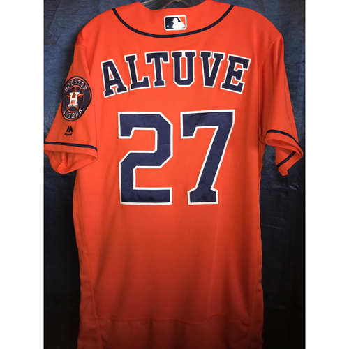 Photo of 2018 Jose Altuve Game-Used Orange Alternate Jersey