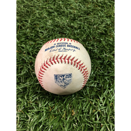 20th Anniversary Game Used Baseball: Masahiro Tanaka strikes out Kevin Kiermaier - July 24, 2018 v NYY