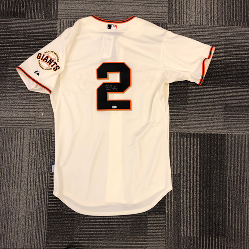 Photo of Autographed Home Jersey - Signed by #2 Denard Span - Size 44