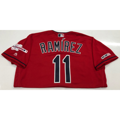 Photo of Jose Ramirez Game Used Jersey - 1st Career Walk-Off Home Run 5/8/19