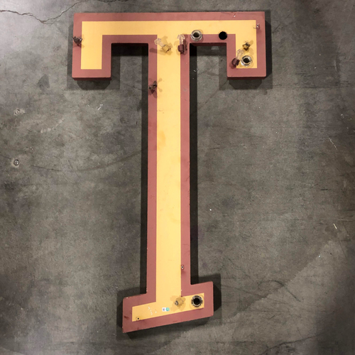 "Photo of AT&T Park Neon Letter ""T"" - 35.5""x22""x1"""