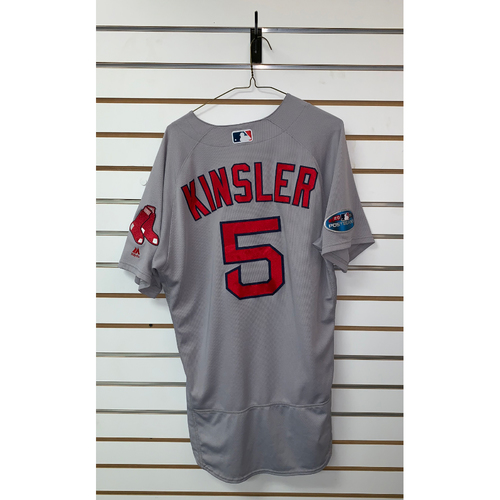 Photo of Ian Kinsler Game Used October 8 & October 16, 2018 Road Jersey