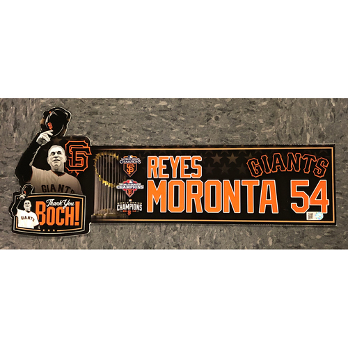 "Photo of 2019 Team Issued ""Thank You BOCH!"" Locker Tag - #54 Reyes Moronta"
