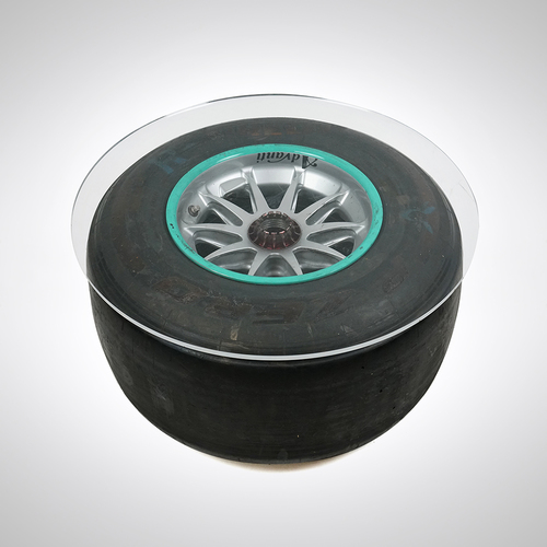Photo of Lewis Hamilton 2015 Mounted Front Wheel Rim & Tyre Table - Pitstop Practice/E...