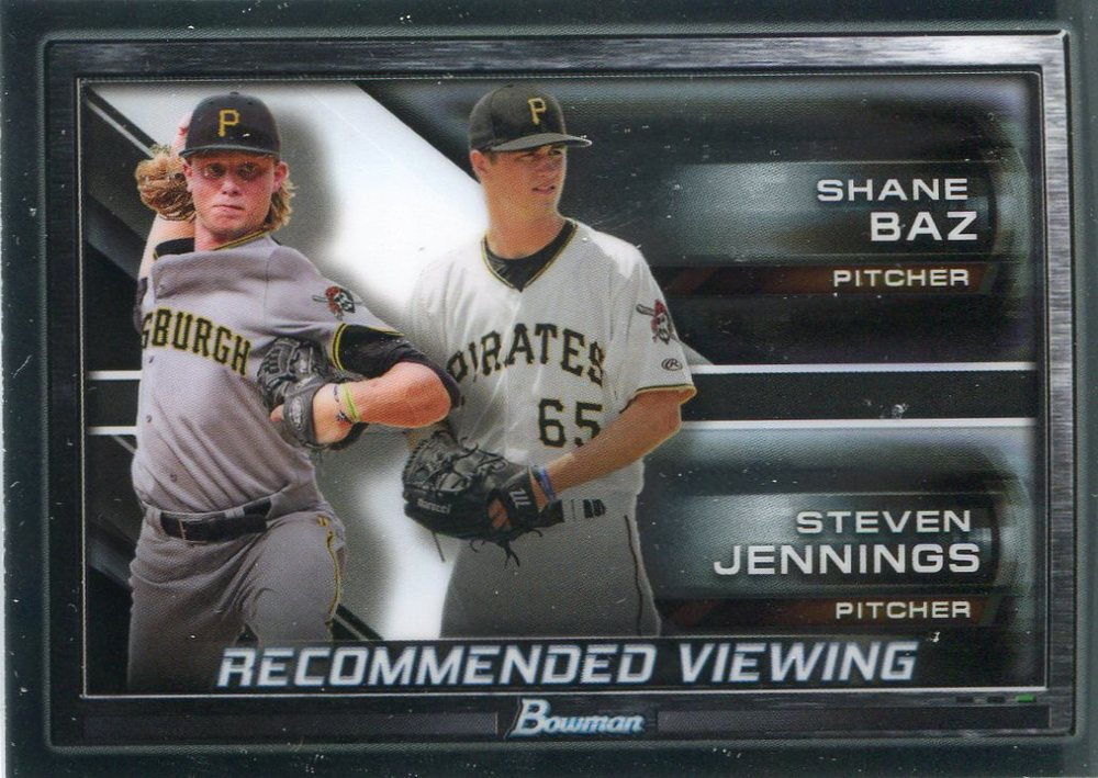 2017 Bowman Chrome Draft Recommended Viewing #RVPIT Steven Jennings/Shane Baz