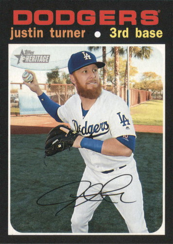 Photo of 2020 Topps Heritage #30 Justin Turner