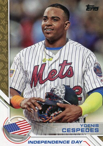 Photo of 2017 Topps Independence Day #ID19 Yoenis Cespedes