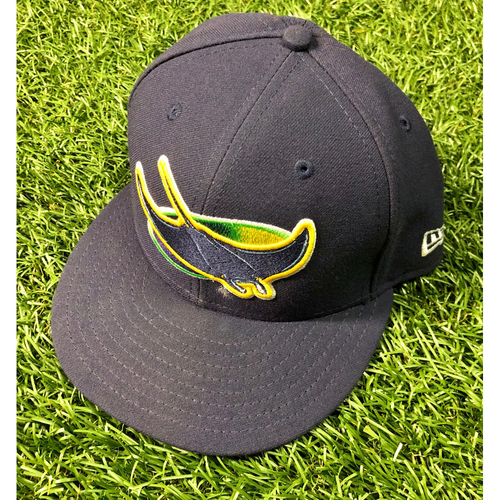 Photo of Game Used Devil Rays Cap: Ryan Yarbrough (3.1IP, 2 SO) - September 22, 2019 v BOS