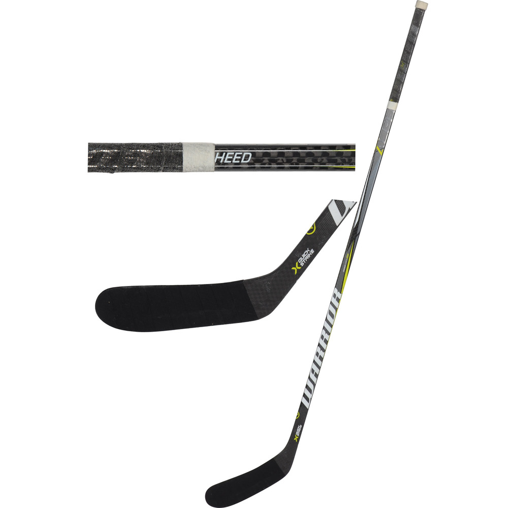 Tim Heed San Jose Sharks Game-Used Black Warrior Stick from the 2018-19 NHL Season