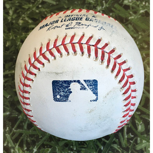 Photo of Game-Used Baseball PIT@MIL 08/29/20 - Josh Hader - Cole Tucker: Strikeout
