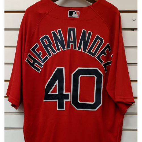 Photo of Marco Hernandez #40 Team Issued Nike Red Spring Training Jersey