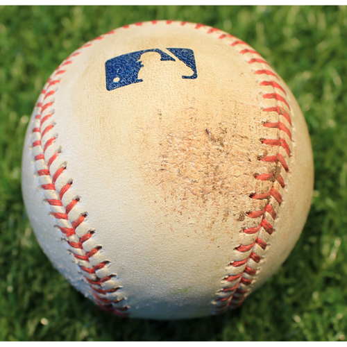 Game-Used Baseball: Kurt Suzuki 284th Career Double (LAA @ KC 4/12/21)