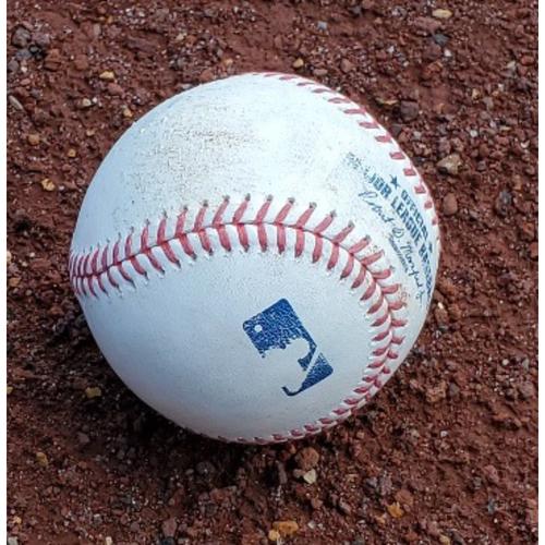 Photo of 2021 Phillies Game-Used Baseball - Aaron Nola 2 Strikeouts