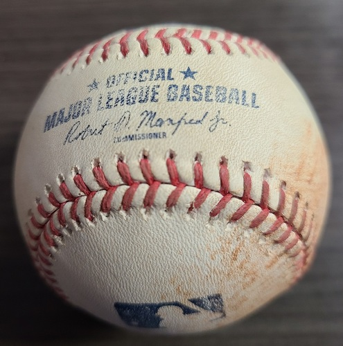 Photo of Authenticated Game Used Baseball: Single by Jose Abreu against Robbie Ray (Aug 25, 2021 vs CWS). Top 1.