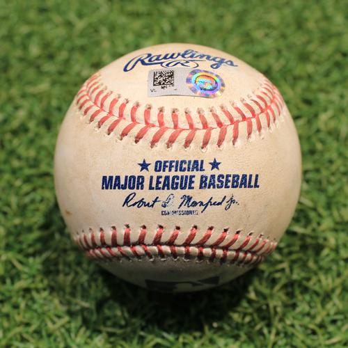 Photo of Game-Used Baseball: Yoan Moncada 421st Career Hit (CWS@KC 5/9/21)