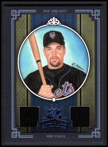 Photo of 2005 Diamond Kings Materials Framed Blue #363 Mike Piazza Mets Jsy-Jsy/100